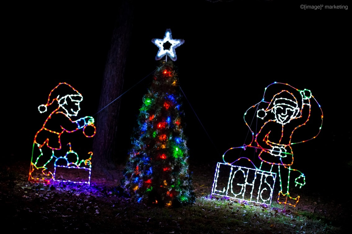 "A display from the Effingham CVB's ""Wonderland in Lights"""