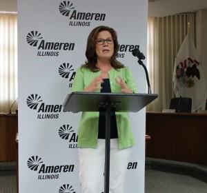 Ameren Illinois Community Relations Coordinator Jeni Hagen discusses the Progressive City Award.