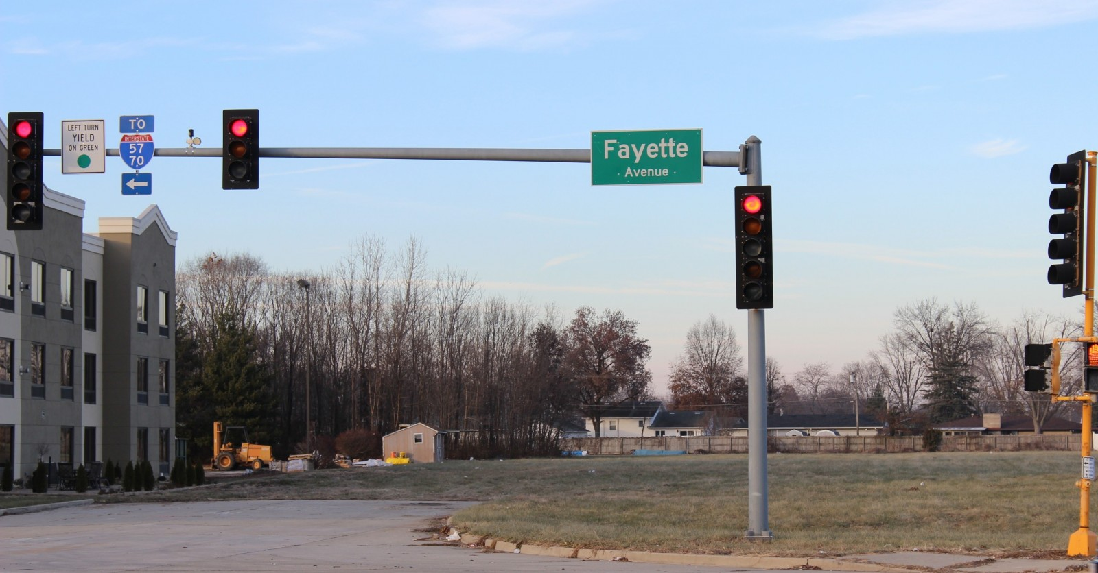 Raney Street will be extended back as part of the project.