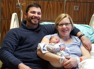 Kenny and Martha Stice introduce Luella Diane Stice, St. Anthony Hospital 2017 New Year's Baby.